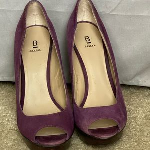 Bakers suede purple platform pumps